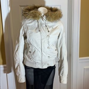 Abercrombie & Fitch Canvas Bomber Jacket Sz M